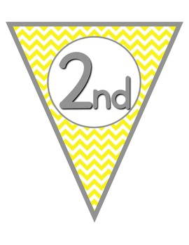 Colorful Chevron Welcome to ___ Grade & Welcome Back Pennants