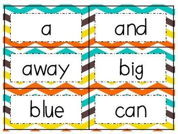 Colorful Chevron Word Wall
