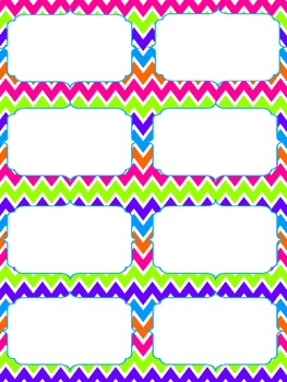 Colorful Chevron Word Wall- HMH Journeys KINDERGARTEN