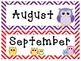 EDITABLE Colorful Chevron and Owl Calendar Classroom Super Pack