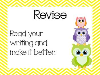 Colorful Chevron and Owl Writing Process