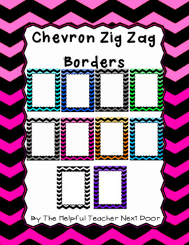 Colorful Chevron and Zig Zag Borders