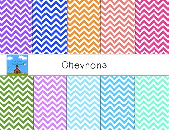 Colorful Chevrons- Digital Papers