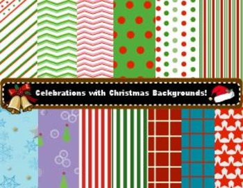 Free - Colorful Christmas Backgrounds