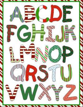 Font Clip Art: Christmas