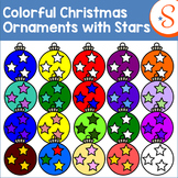 Colorful Christmas Ornaments with Stars