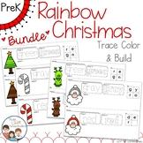 Rainbow Christmas Trace Color and Build BUNDLE - Writing C