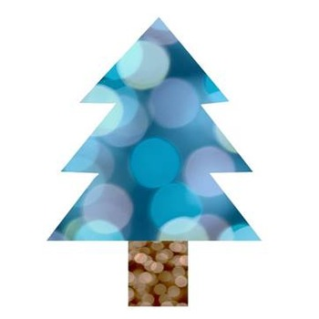 Christmas Tree Clip Art -- 10 Colorful Bokeh Designs