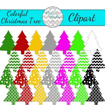 Colorful Christmas Tree Clipart