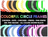 Colorful Circle Frames (220 Different Frames)