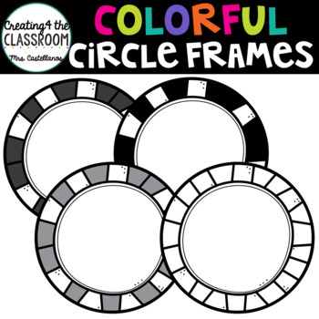 Colorful Circle Frames {Creating4 the Classroom}
