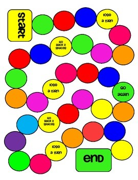 Colorful Circle Game Board