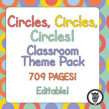 Classroom Theme Decor / Organization - Mega Bundle (Editable!) Colorful Circles