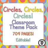 Classroom Theme Decor / Organization - Mega Bundle (Editable!) Colorful Circles