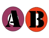 Colorful Circular Alphabet Letters