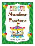 Colorful Circus Number Posters