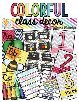 Colorful Class Decor
