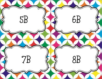 Colorful Class Period Labels