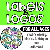 Colorful Class Period Signs/Logos + Days of the Week!