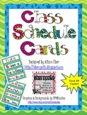 Colorful Class Schedule Cards