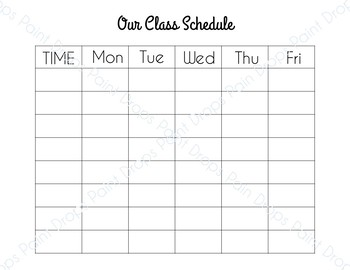 FREE Colorful Class Schedule   (+FREE printer friendly version) {DECOR}