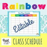 FREE Colorful Class Schedule   (+FREE printer friendly ver