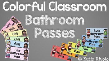 Colorful Classroom Bathroom Passes