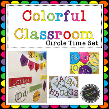 Colorful Classroom Circle Time Set