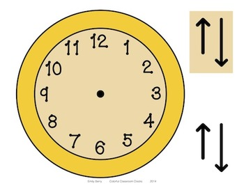 Colorful Classroom Clocks