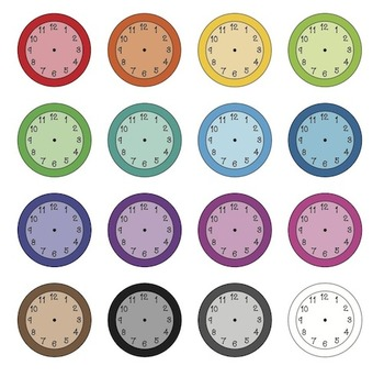 Colorful Classroom Clocks