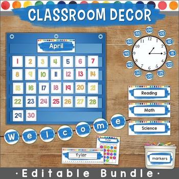 Colorful Classroom Decor