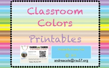 Colorful Classroom Decorations