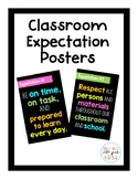 Colorful Classroom Expectation Posters