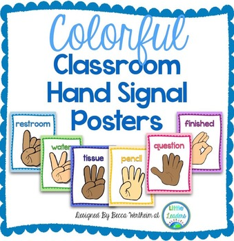 Tremendous Colorful Classroom Hand Signal Posters Download Free Architecture Designs Scobabritishbridgeorg