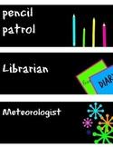 Colorful Classroom Job Cards