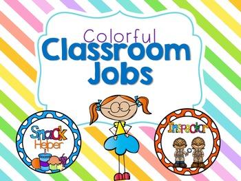 Colorful Classroom Jobs!
