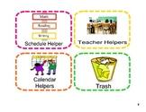 Colorful Classroom Jobs Display