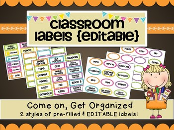 Colorful Classroom Labels-2 styles