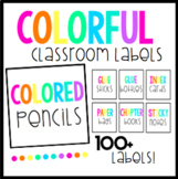 Colorful Classroom Labels