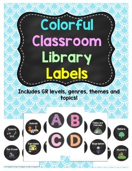 Colorful Classroom Library Labels