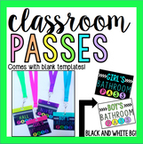 Colorful Classroom Passes