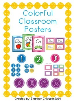 Colorful Classroom Posters