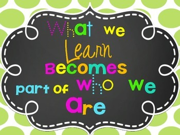 Colorful Classroom Quotes