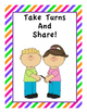 15 Bright Lined & Colorful Classroom Rule/Procedure Poster