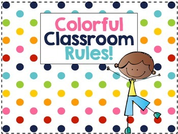 Colorful Classroom Rules