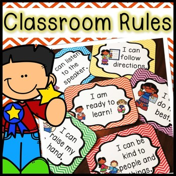 Colorful Classroom Rules with Matching Book