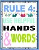 Colorful Classroom Rules Flip Flop Theme Beach Theme