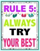 Colorful Classroom Rules Flip Flop Theme Beach Theme