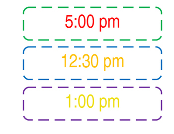Colorful Classroom Schedule