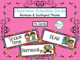 Colorful Classroom Schedule Cards